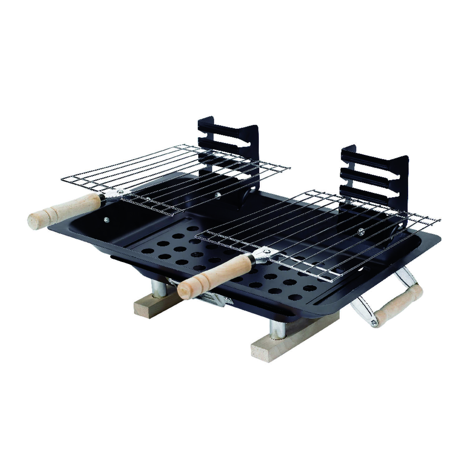 Marsh Allen  Hibachi  Charcoal  14.5 in. W Grill  Black