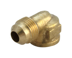 JMF  3/8 in. Flare   x 1/4 in. Dia. FPT  Yellow Brass  Elbow