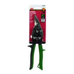 Ace  10 in. Drop Forged Steel  Style  Aviation Snips  19 Ga.
