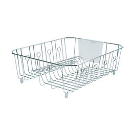 Rubbermaid 17.6 in. L x 13.8 in. W x 5.9 in. H Chrome Steel Dish Drainer