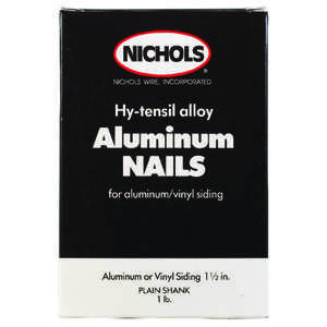 Nichols Wire  1-1/2 in. L Siding  Aluminum  Nail  Round Head Smooth  1  1 lb.