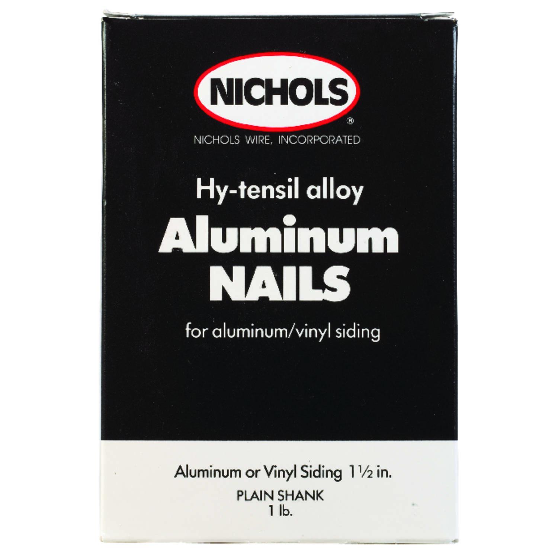 Nichols Wire 1-1/2 in. L Siding Aluminum Nail Round Head Plain Shank ...