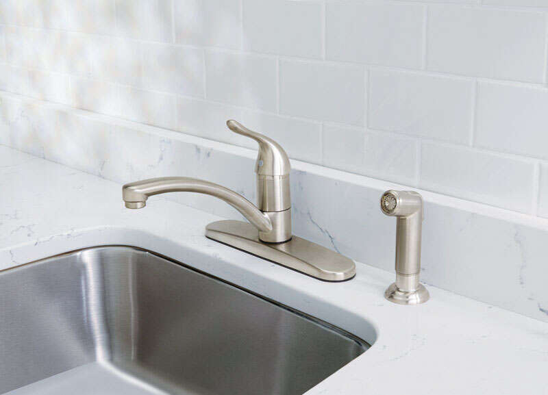 OakBrook  Pacifica  Single Handle Kitchen  One Handle  Brushed Nickel  Kitchen Faucet  Side Sprayer