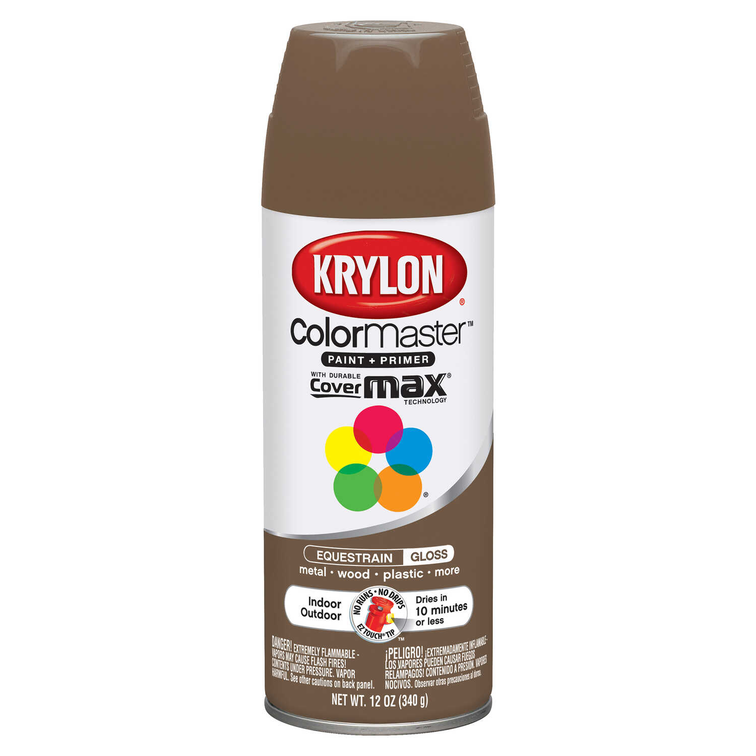 Krylon  ColorMaster  Gloss  Equestrian  Spray Paint  12 oz.