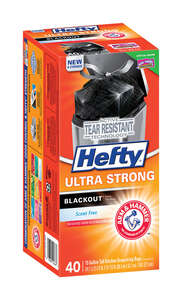 Hefty  Ultra Strong  13 gal. Kitchen Trash Bags  Drawstring  40 pk