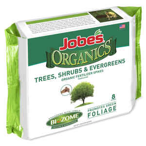 Jobe's  Organics Trees Shrubs & Evergreens  5-5-5  Fertilizer Spikes  8 pk
