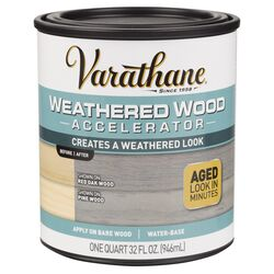 Varathane Semi-Transparent Gray Water-Based Weathered Wood Accelerator 1 qt.