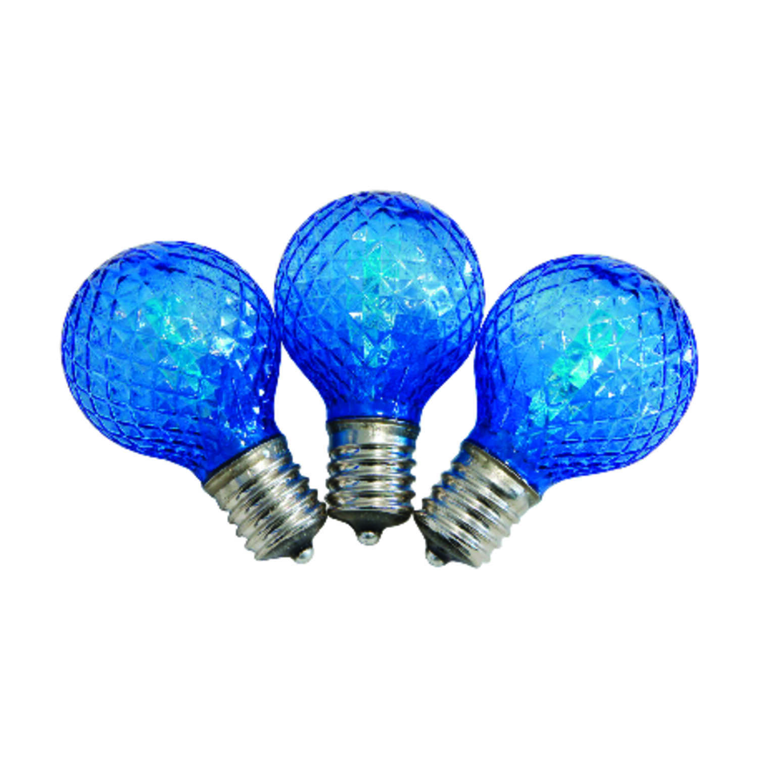 Celebrations  LED  G40  Replacement Bulb  Blue  25 pk