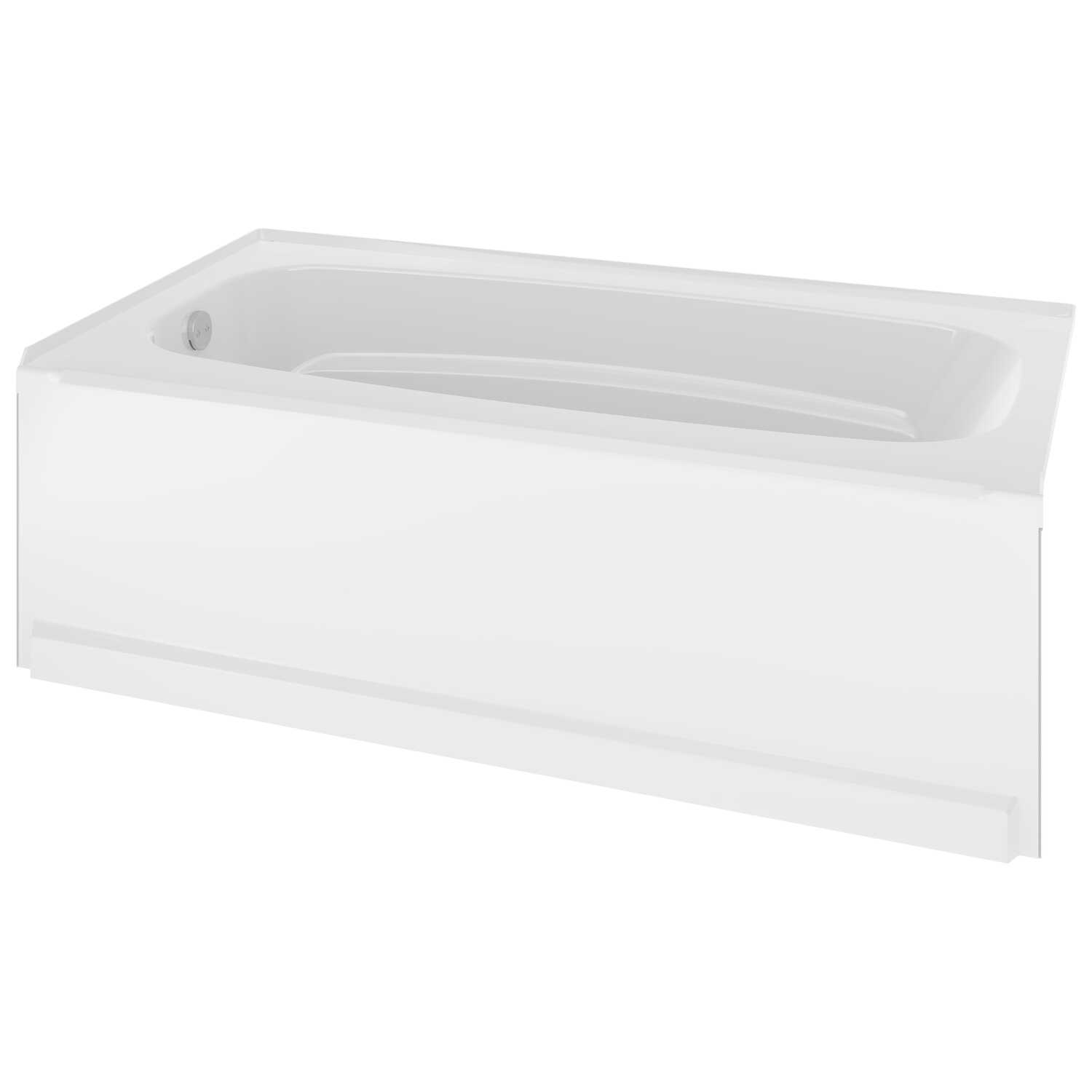 Delta Bathing System  Classic  White  One Piece  Left Hand Drain  Rectangle  Bathtub