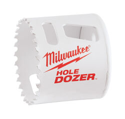 Milwaukee  Hole Dozer  2-1/8 in. Bi-Metal  Hole Saw  1 pc.