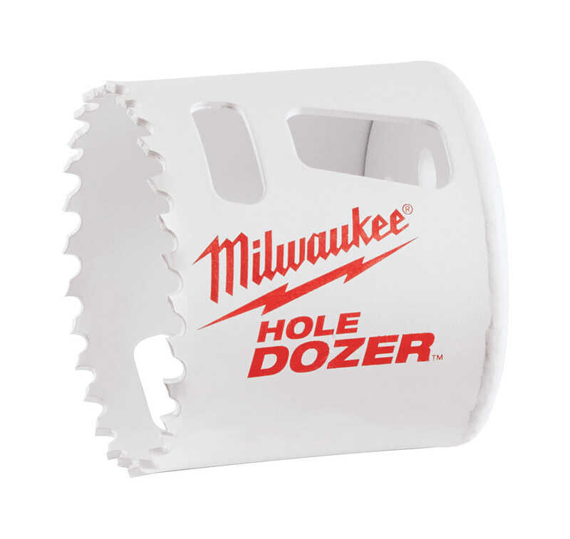 Milwaukee  Hole Dozer  2-1/8 in. Dia. x 1.9 in. L Bi-Metal  Hole Saw  1/4 in. 1 pc.