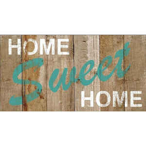 Bacova  Home Sweet Home  Multi-color  Rubber  Door Mat  30 in. L x 18 in. W