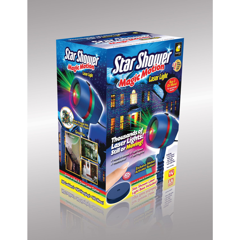 Telebrands tar Shower Magic Motion LED Laser Spike Light Projector ...
