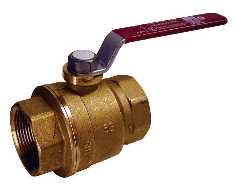 Mueller  Ball Valve  1-1/4 in. FPT   x 1-1/4 in. Dia. FPT  Brass  Packing Gland