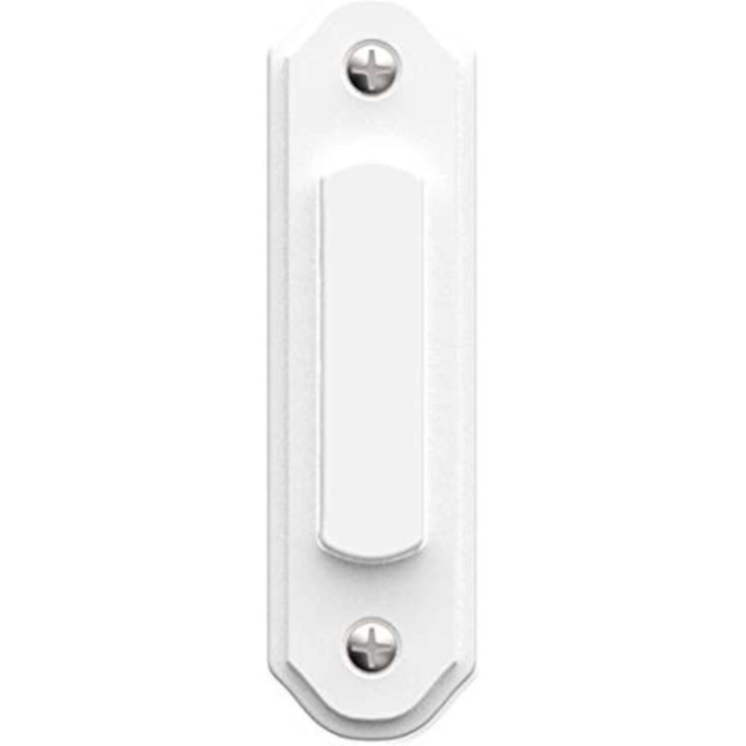 Heath Zenith  White  Metal  Wired  Pushbutton Doorbell