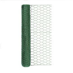 Garden Craft  24 in. H x 25 in. W x 25 ft. L Steel  Poultry Netting  Vinyl Coated