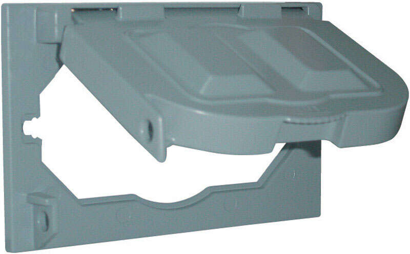 Sigma  Rectangle  Aluminum  1 gang Electrical Cover  For Closure of Unused Box Outlets