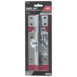 Ace  5 in. L Polished  Stainless Steel  Heavy Duty Barrel Bolt