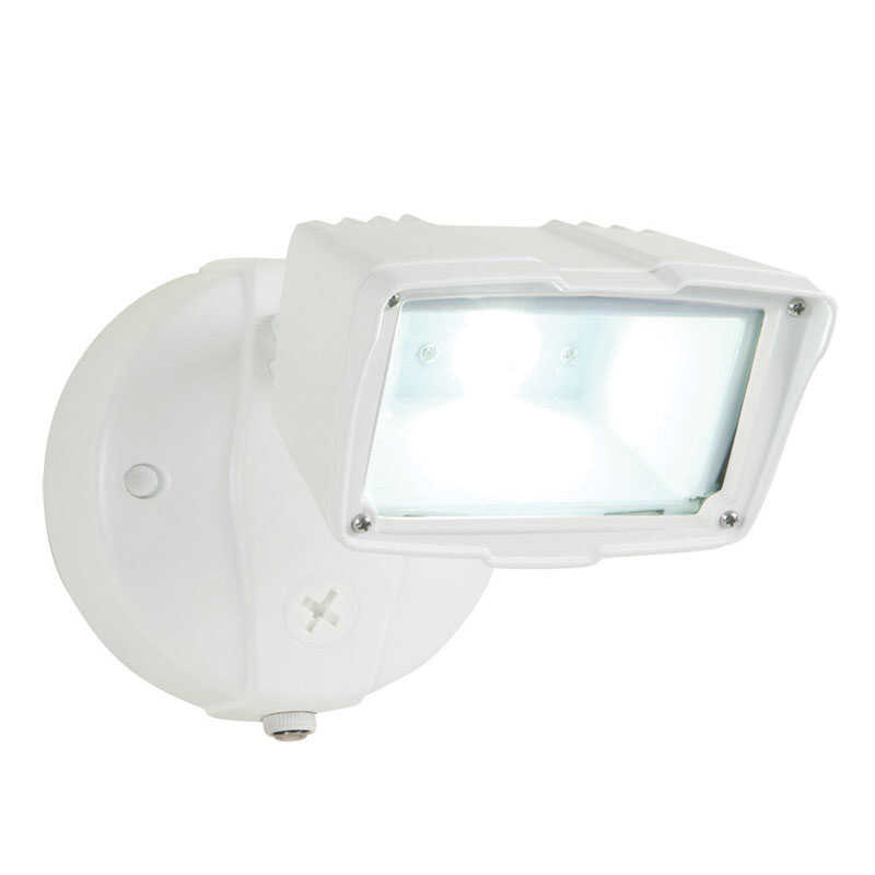 All-Pro  Dusk to Dawn  Hardwired  White  Security Light