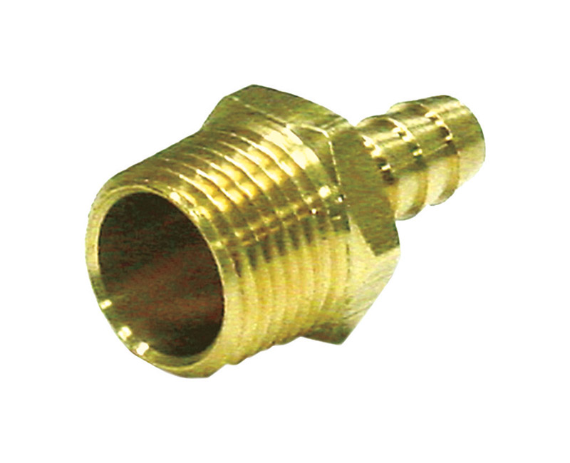 JMF  Brass  Hose Barb  1/4 in. Dia. x 1/8 in. Dia. Yellow  1 pk