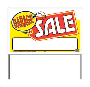 Hy-Ko  English  Garage Sale  Sign  Plastic  16 in. H x 26 in. W
