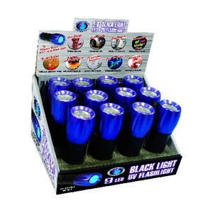 Blacklight Master  Black/Purple  LED  UV Flashlight  AAA Battery