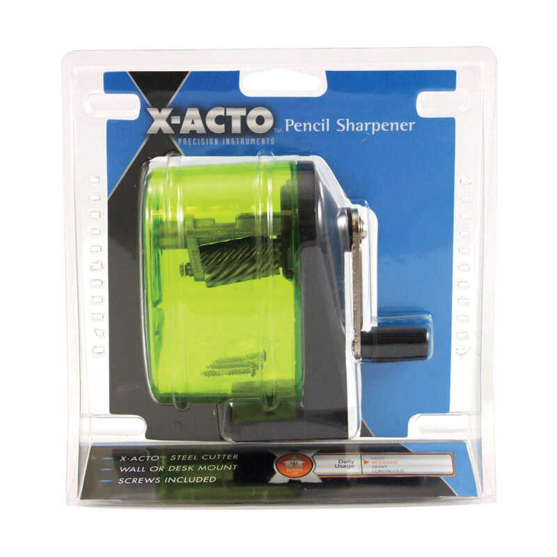 X-Acto  Assorted  Yellow  Manual  Pencil Sharpener