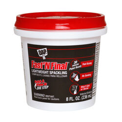 DAP Fast 'N Final Ready to Use White Lightweight Spackling Compound 8 oz.