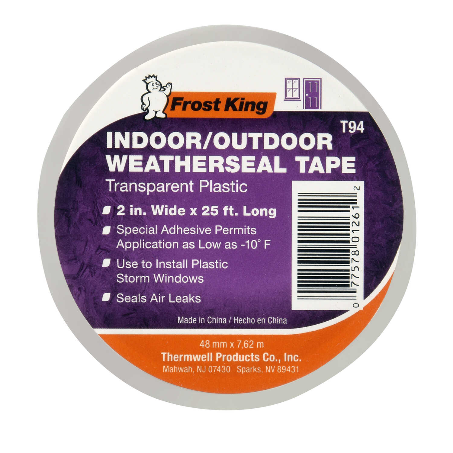 Frost King Clear Plastic Weather Stripping Tape For Windows