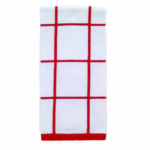 T-Fal  Red  Cotton  Kitchen Towel  1 pk