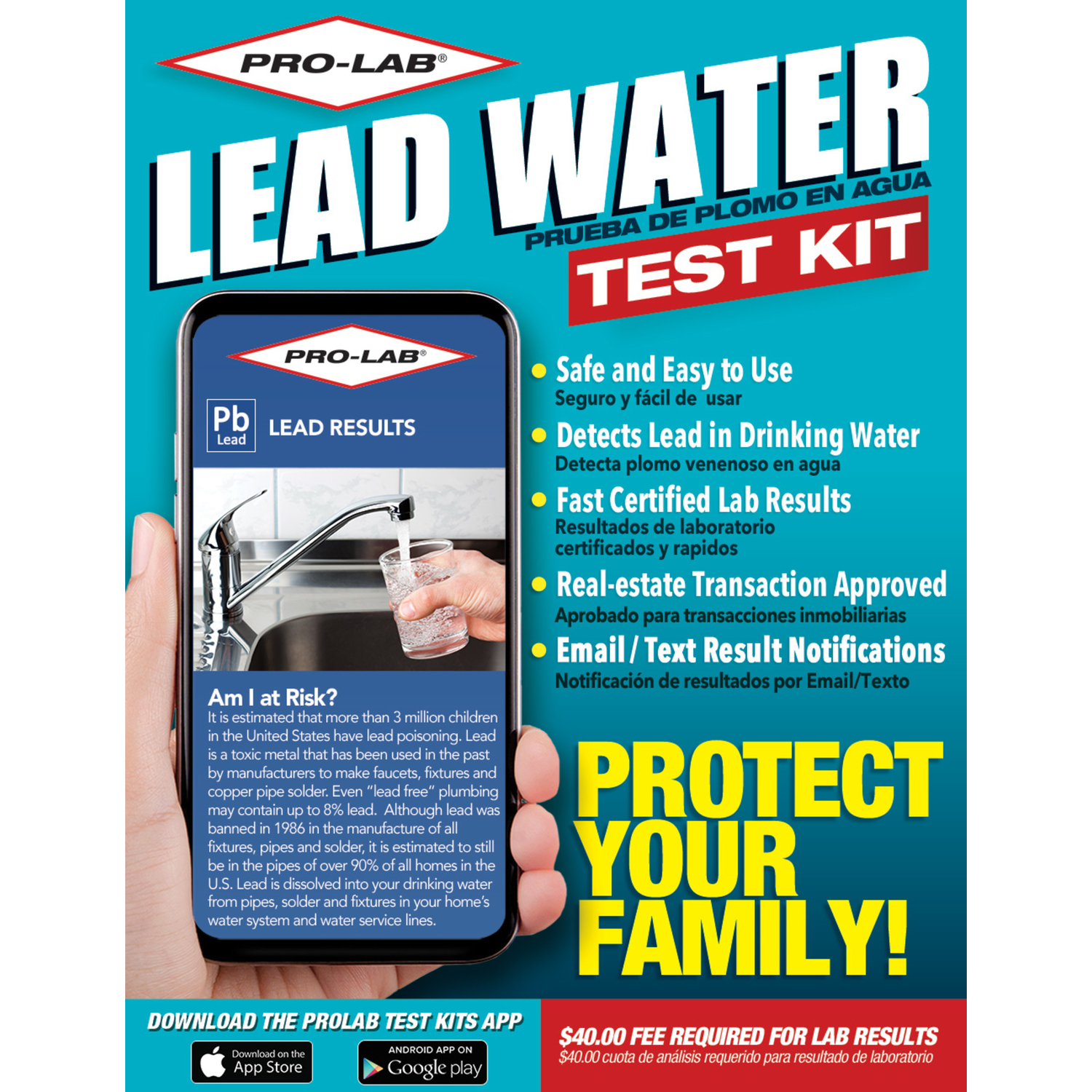 Pro-Lab  Lead in Water Test Kit  N/A
