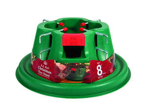Home Logic  Plastic  Green  Christmas Tree Stand  8 ft. Maximum Tree Height