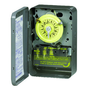 Intermatic  Indoor  Mechanical Time Switch  120 volt Gray