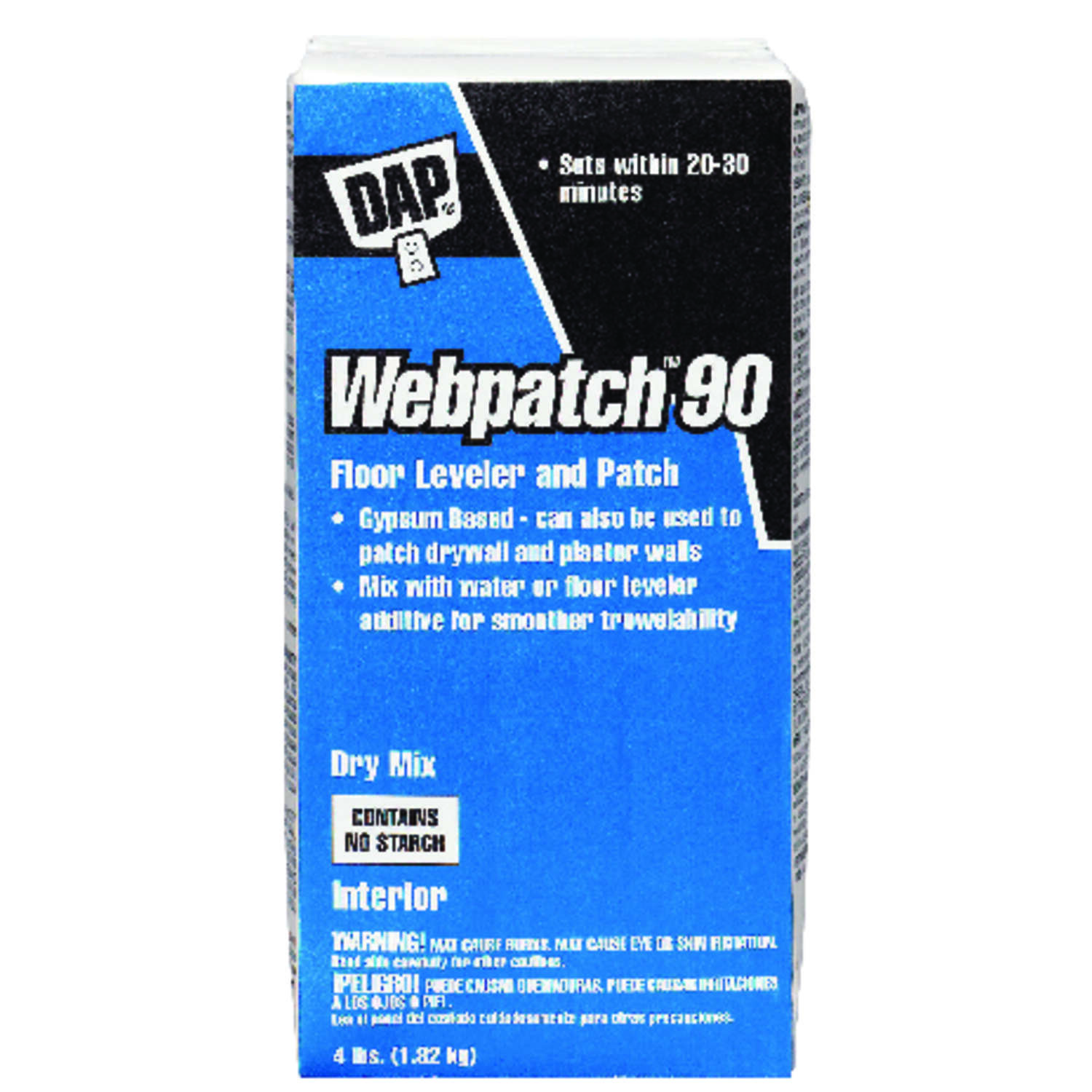 DAP  Webpatch 90  Off-White  Patch and Floor Leveler  4 lb.