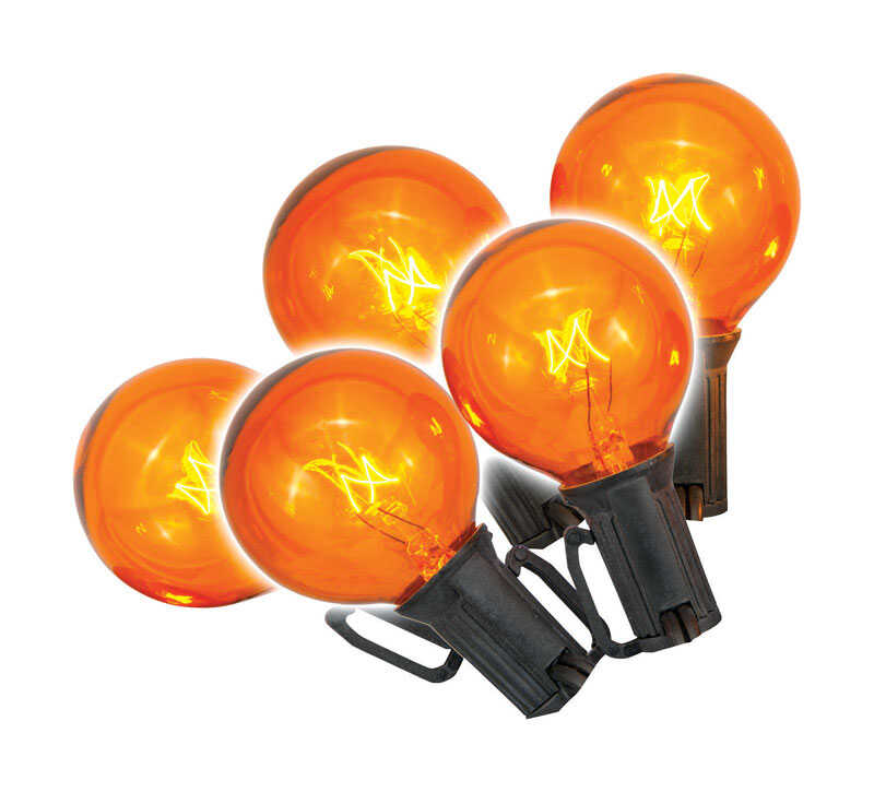 Celebrations  Globe  Halloween Lights  10 ft. L 1 pk