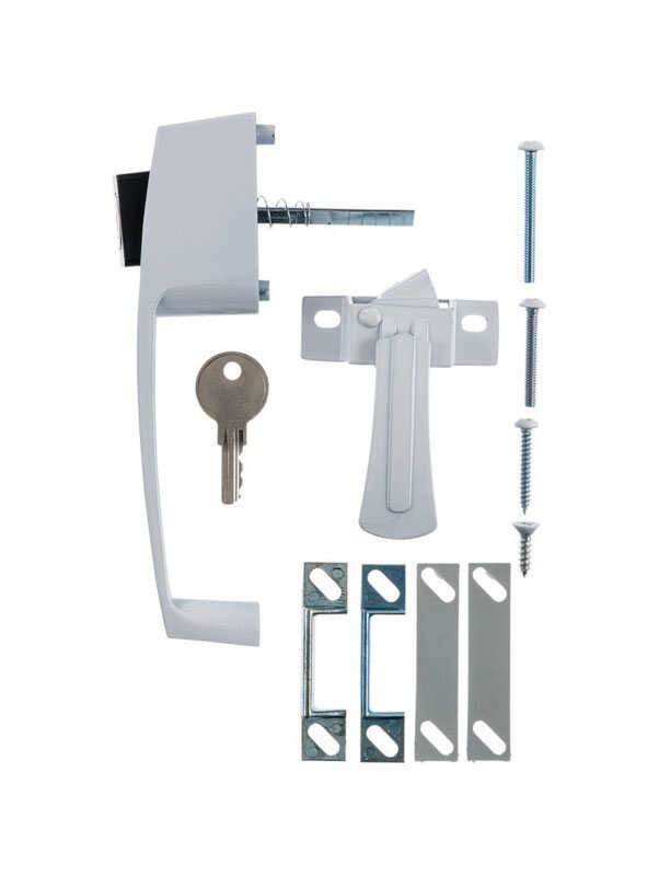 Ace  White  White  Steel  Push Button Keyed Latch  1 pk