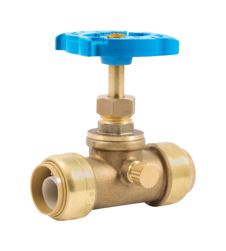 SharkBite  3/4 in. PTC   x 3/4   Brass  Stop and Waste Valve