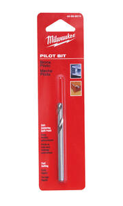 Milwaukee  THUNDERBOLT  1/4 in. Dia. x 3-1/2 in. L High Speed Steel  Hole Saw Pilot Bit  1/4 in. 1 p
