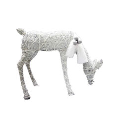 Celebrations  Feeding Deer  LED Yard Art  White  Synthetic