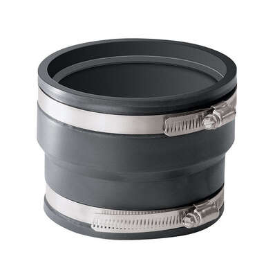 Fernco  Schedule 40  4 in. Hub   x 4 in. Dia. Hub  PVC  Flexible Coupling