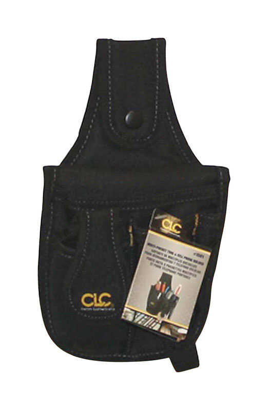 CLC  4 pocket Polyester Fabric  Tool and Cellular Phone Holder  6 in. L x 9.8 in. H Black