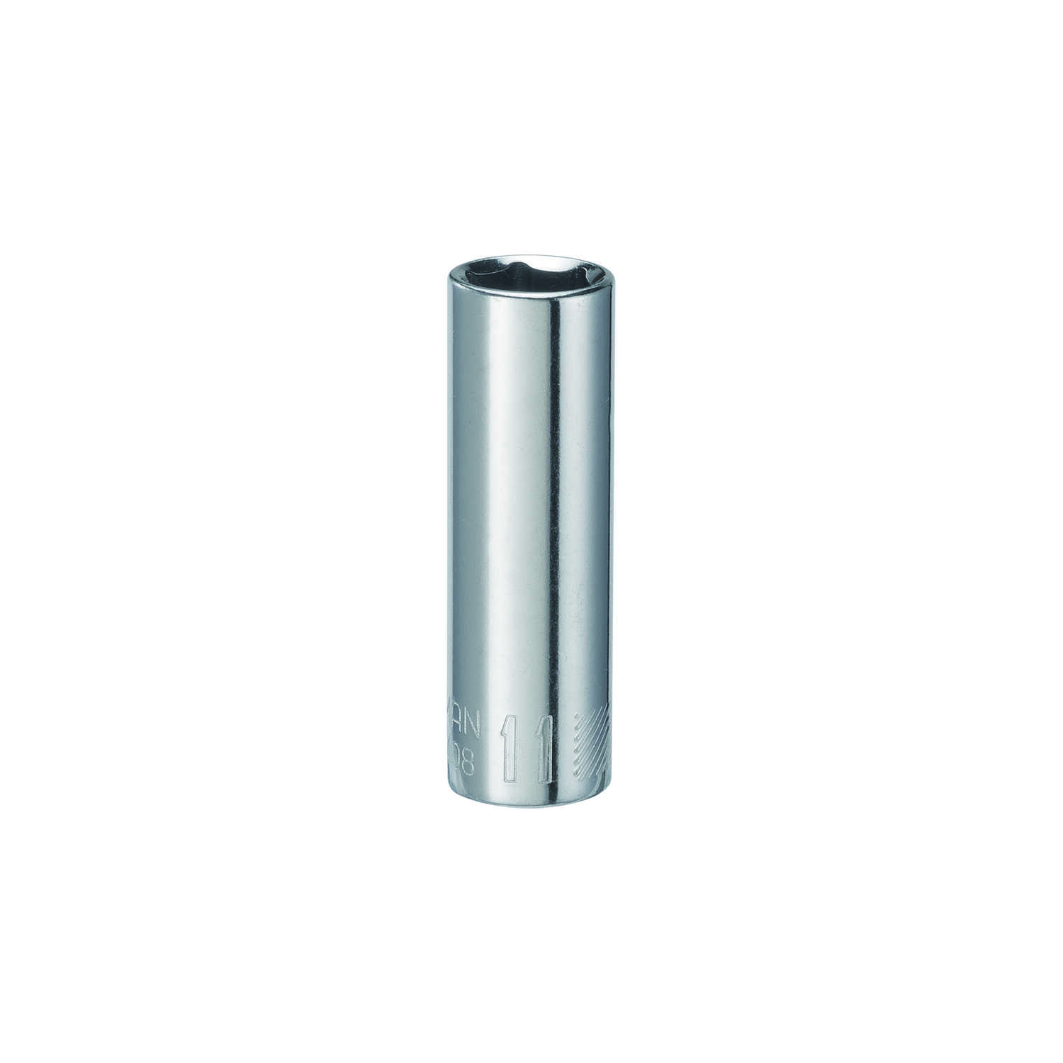 Craftsman  11 mm  x 1/4 in. drive  Metric  6 Point Deep  Socket  1 pc.