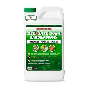 Organocide  Bee Safe 3-in-1 Garden Spray  Organic Insect, Disease & Mite Control  32 oz.