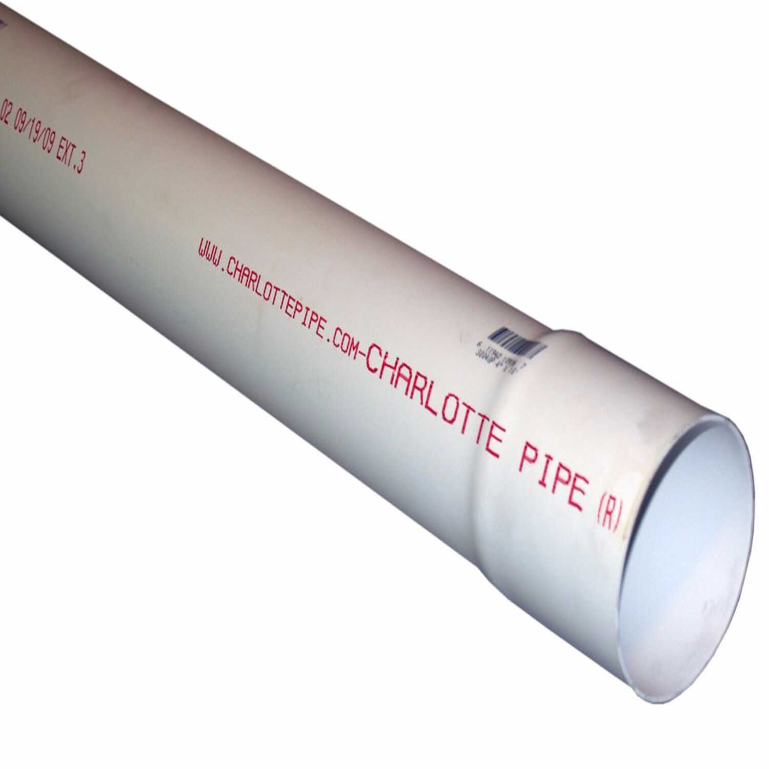 Cresline  10 ft. L x 6 in. Dia. PVC  Sewer and Drain Pipe