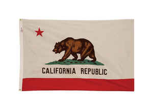 Valley Forge  California State  Flag  36 in. H x 60 in. W