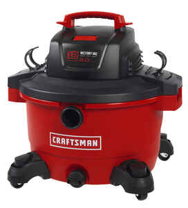 Craftsman  12 gal. Corded  Wet/Dry Vacuum  6 hp 10.5 amps 120 volt Red  26 lb.
