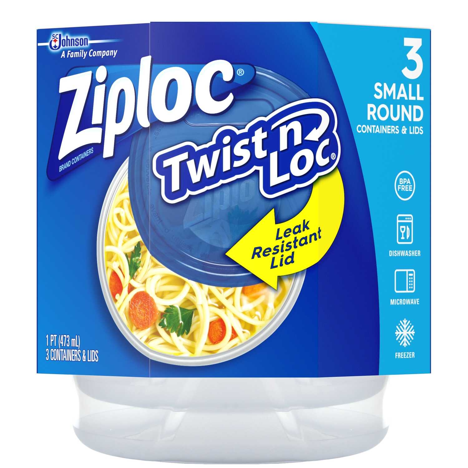 Ziploc  16 oz. Twist N Lock  3 pk Clear  Twist'n Loc Container