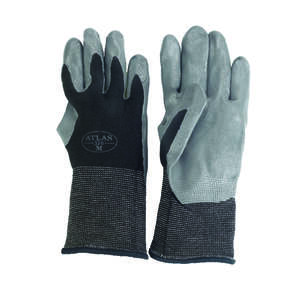 Atlas  Unisex  Indoor/Outdoor  Nitrile  Dipped  Gloves  Black/Gray  M
