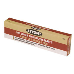 Hyde  1-9/16 in. Steel  Single Edge  Razor  Razor Blade  3/4 in. L 100 pk