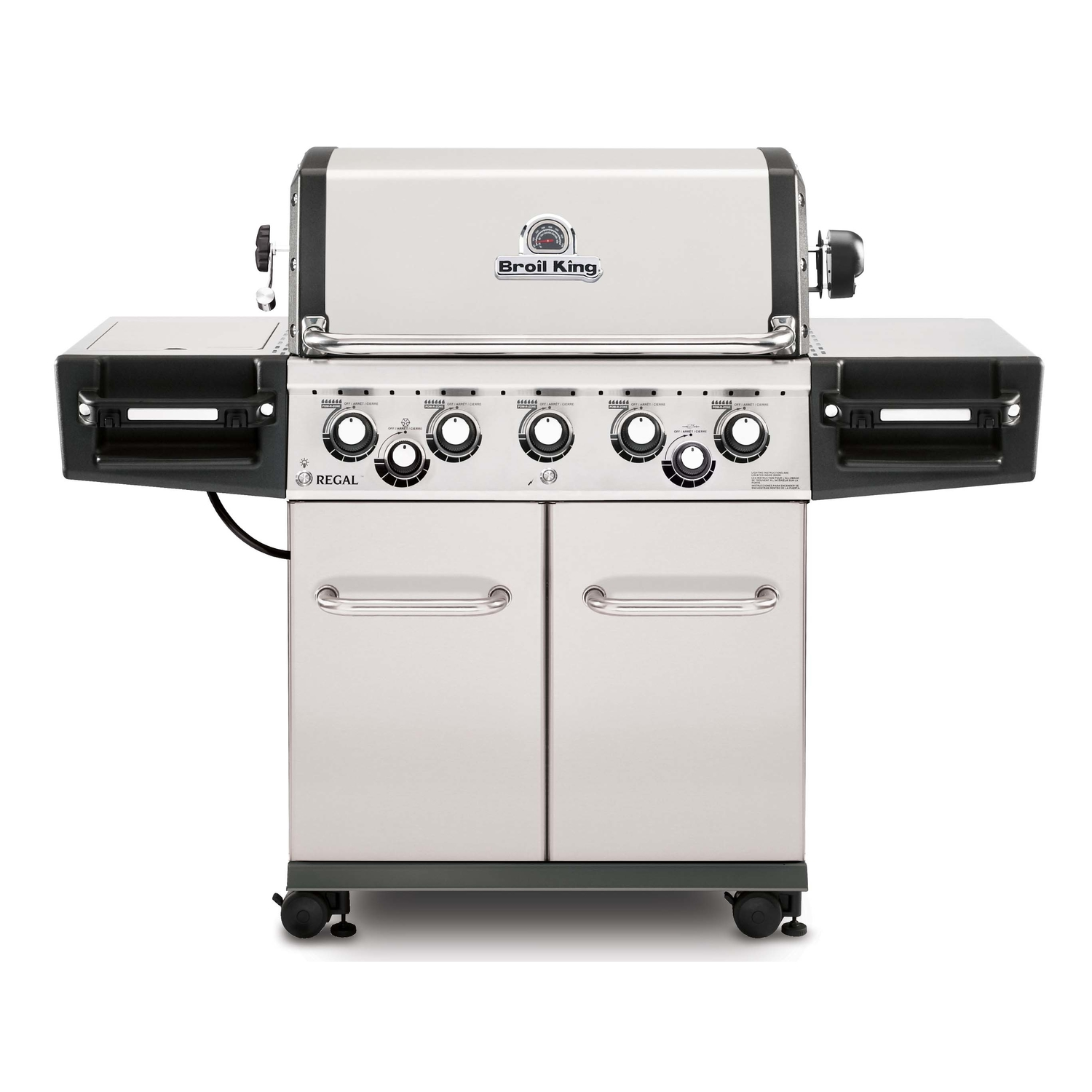 Broil King  Regal S590 Pro  5 burners Propane  Stainless Steel  Grill  55000 BTU